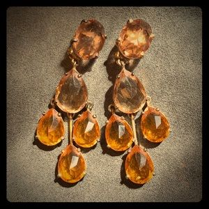 Jewelry - Clip-on earrings with possible Citrine stones